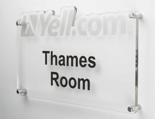 Large Glass Effect Signs, posts available | The Sign Maker Shop